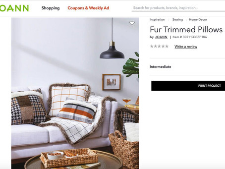 In the Press: Fur Trimmed Pillows