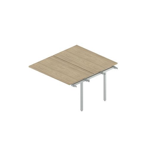 Промежуточный сдвоенный стол на металлокаркасе