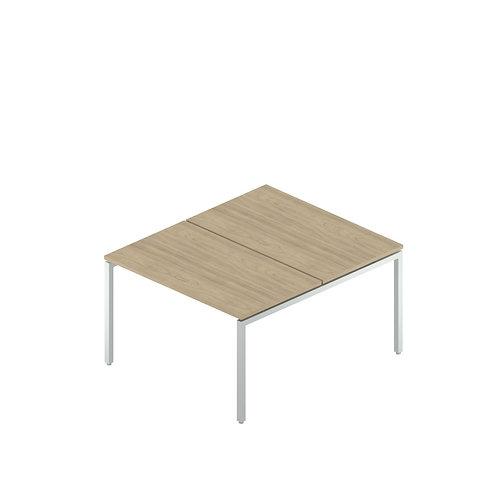 Сдвоенный стол на металлокаркасе