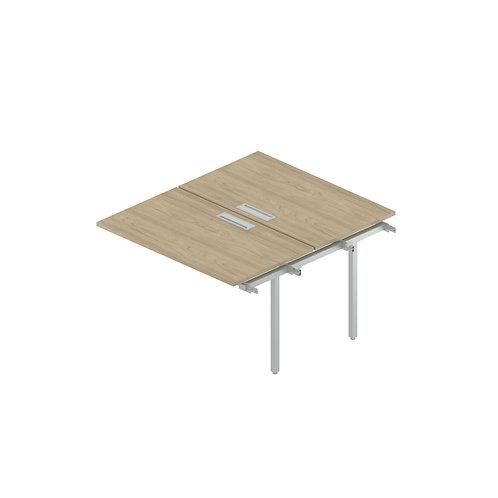 Промежуточный сдвоенный стол с люком на металлокаркасе