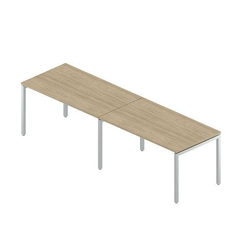 Двойная группа столов на металлокаркасе
