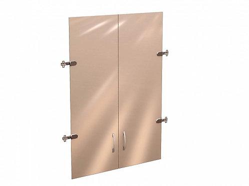 Дверь стеклянная 3 секции Рубин.38