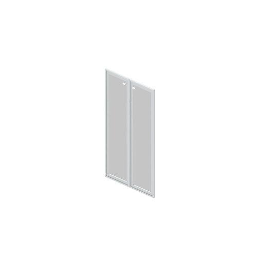 G-02 Двери стеклянные в раме МДФ
