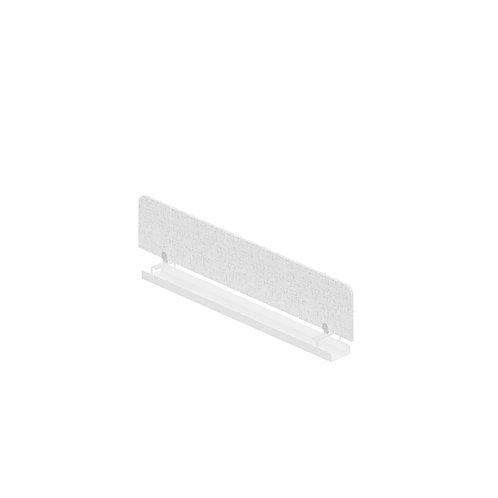 Экран-перегородка (Ткань/Акрил/ЛДСП) с кабель-каналом для сдвоенных столов
