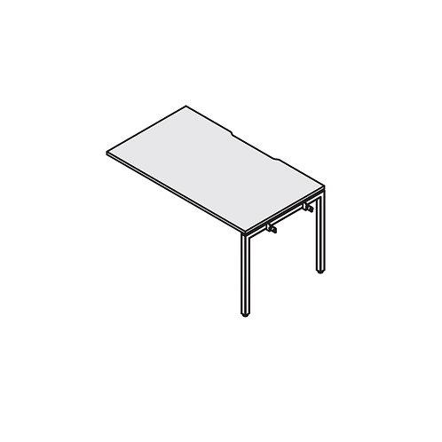Промежуточный стол с вырезом на металлокаркасе