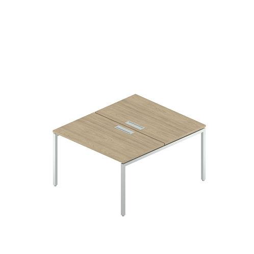Сдвоенный стол с люком на металлокаркасе