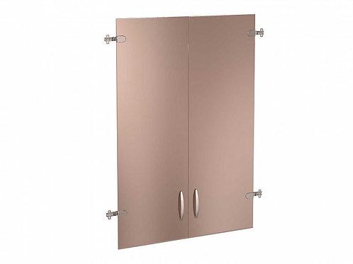 Двери стеклянные тонированные 3 секции Альфа.38