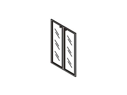 G-02 Двери стеклянные в рамке