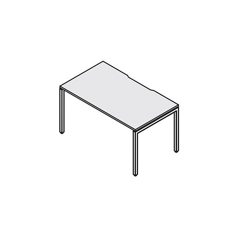 Стол с вырезом на металлокаркасе