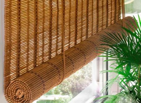 Шторы из бамбукового полотна