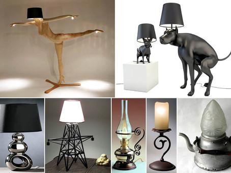 Оригинальные осветительные предметы интерьера