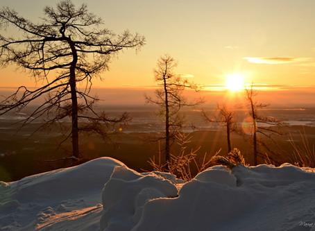 Оттенки зимнего заката...