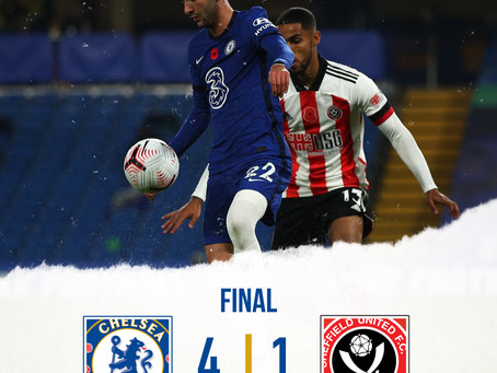 Chelsea cruise by Sheffield United