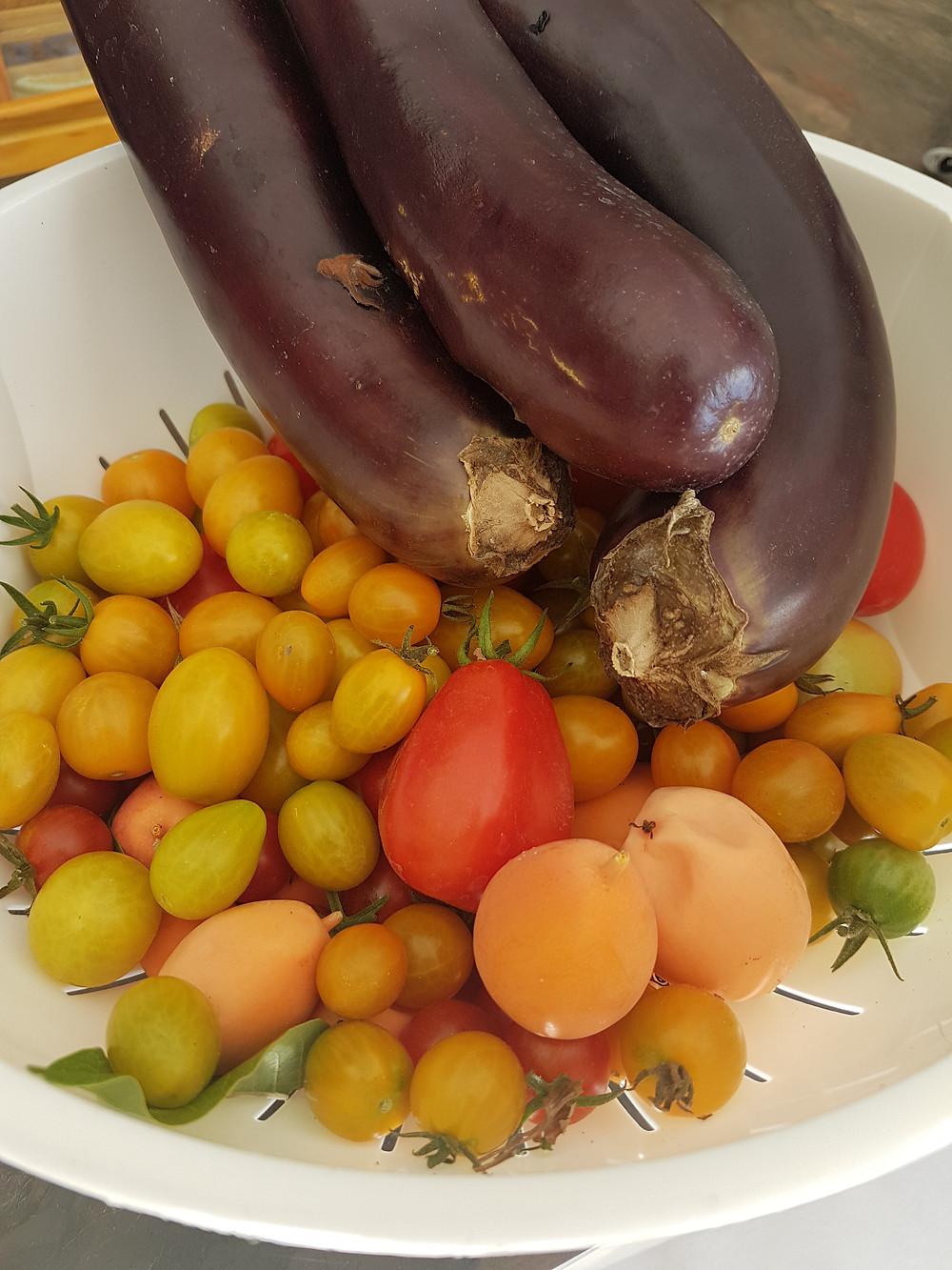früchte und gemüse dirket vom garten