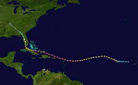 the path of hurricane Irma
