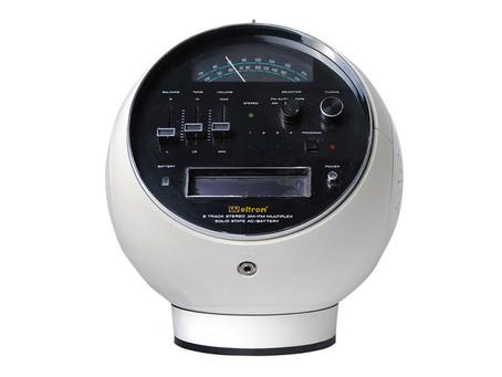 【普普風】Weltron 太空頭盔收音機,八音軌播放器