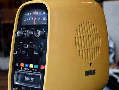【普普風】經典蛋形,70年代太空時代8音軌撥放器FM收音機