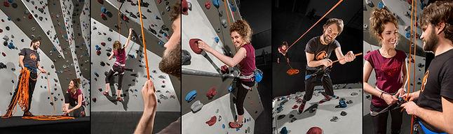 Bildserie von Marvin Rust. Klettern in der Kletterhalle. Fotografenmeister werden in Kiel. Photo+Medienforum Kiel