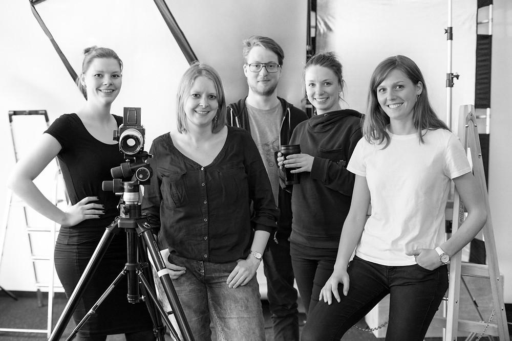 von links nach rechts: Henrike, Kathrin, Pascal, Maryl und Frederieke