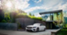 Automobilfotografie Jan Schneider. On Location. Weißer Mercedes. Fotografenmeister werden in Kiel. Photo+Medienforum Kiel