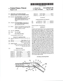 First pg of First Expandable Hose Patent