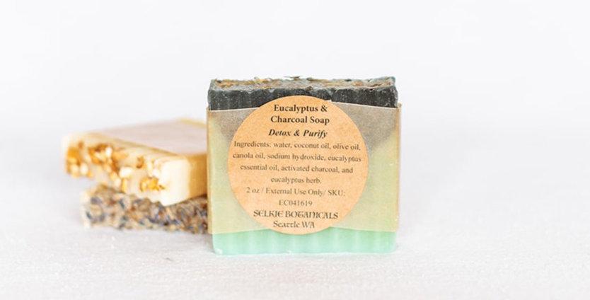 VEGAN Soap - Eucalyptus & Charcoal