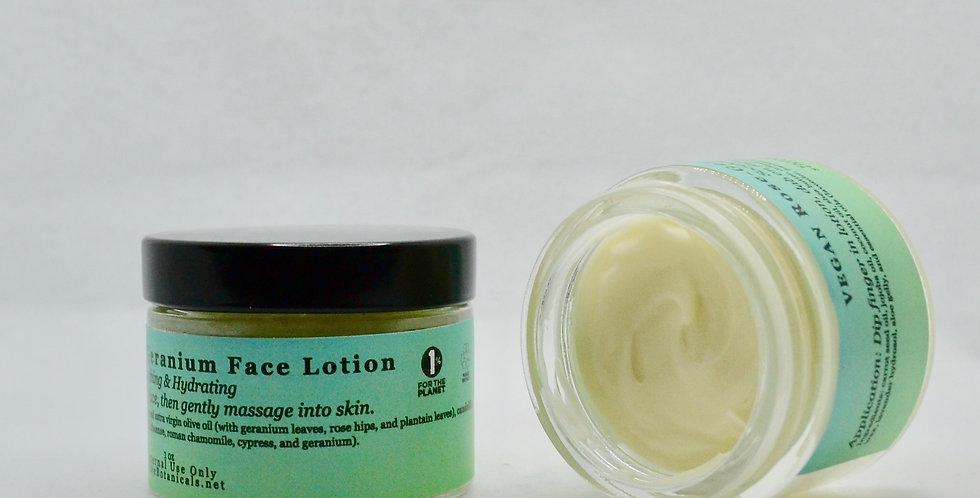 VEGAN Rose-Geranium Face Lotion