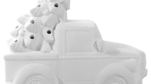Ceramic Truck with Tree - lighten # 1990