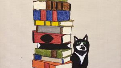 Tell Tail Book Shoppe Personalized Pet painting acrylic  ready to hang