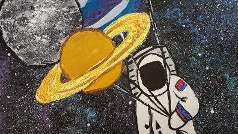 Astronaut Balloon Planets Paint Kit