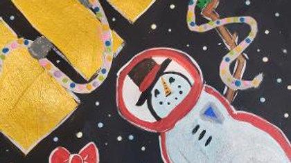 Space Snowman Kids Paint Kit