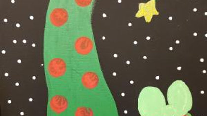 Curvy Christmas Tree Paint Kit
