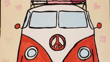 VW Bus Valentine Paint Kit