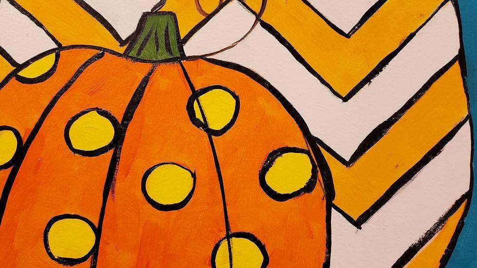 Patterned Pumpkins Paint Kit