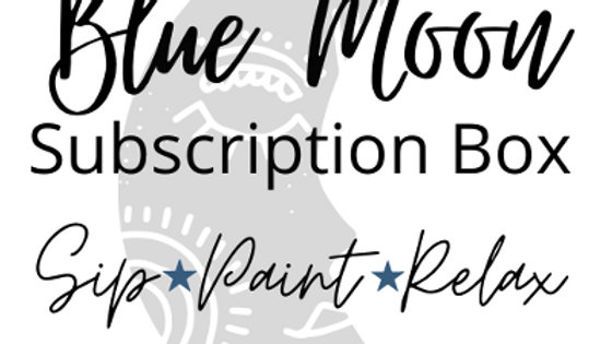 Blue Moon Sip and Paint monthly subscription box