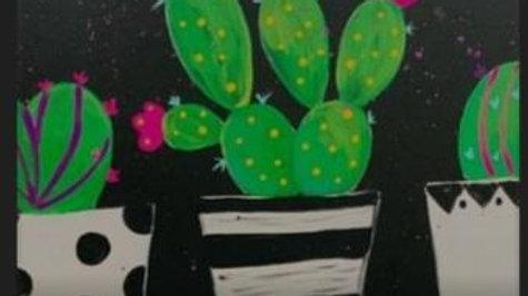 Cactus Trio Paint Kit