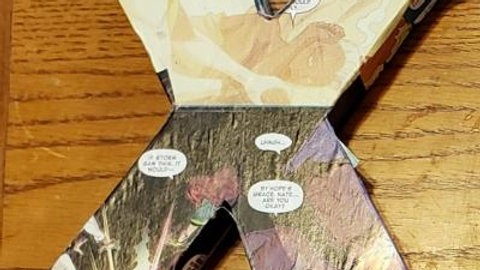 X-Men wooden comic book letter - X