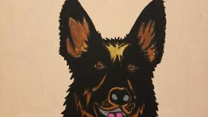 Security Personalized Pet painting acrylic  ready to hang
