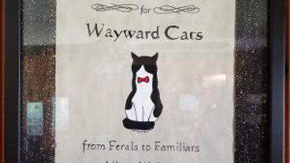 Wayward Cats Personalized Pet painting acrylic  ready to hang