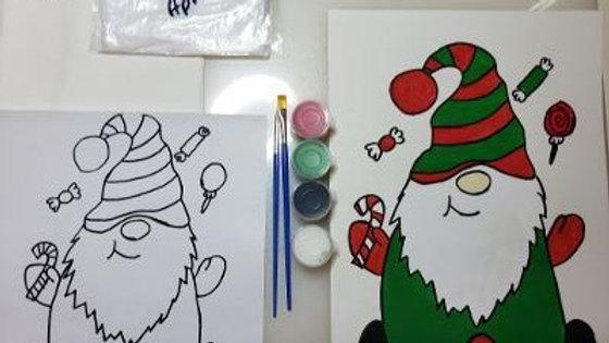 Christmas Gnome Kids Paint Kit