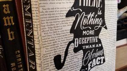 Sherlock Holmes themed wooden book box