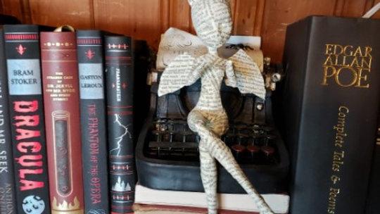 Book Fairy sculpture - bat wings