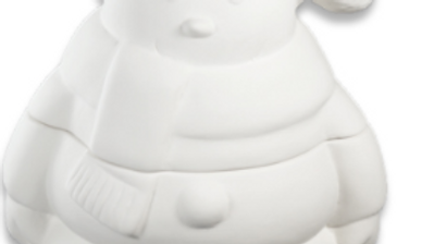 Ceramic Snowman Jar # 1960
