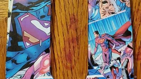 Superman wooden comic book letter -O