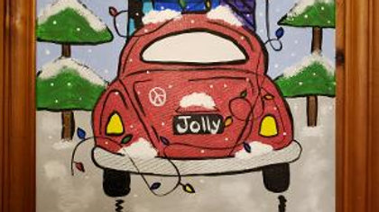 VW Bug with Presents Paint Kit