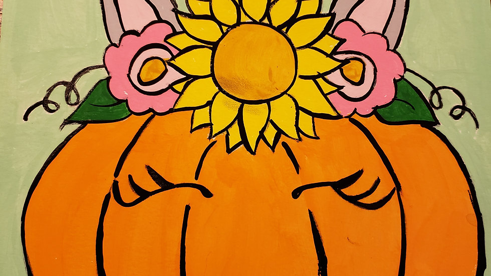 Unicorn Pumpkin Kids Paint Kit