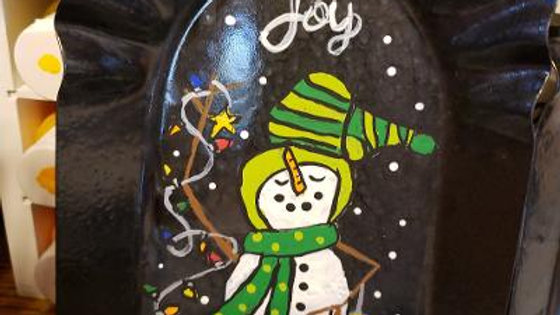 Snow Much Joy Hand Painted fireplace shovel