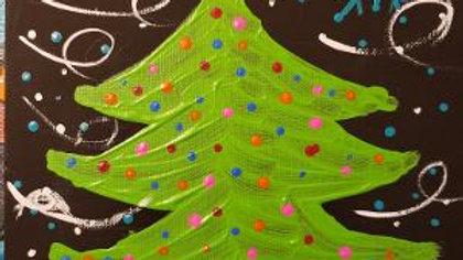 Windy Night Christmas Tree Paint Kit