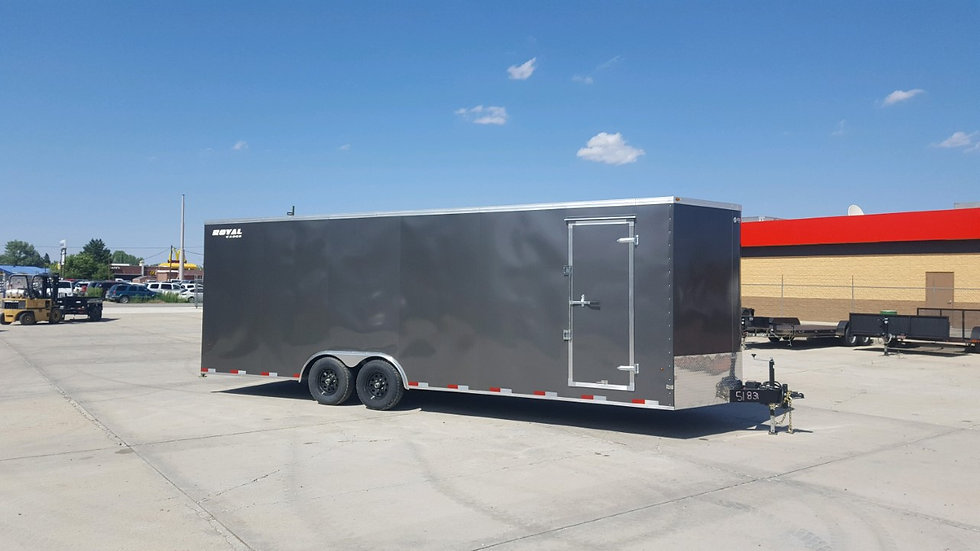 8x26 ENCLOSED CARGO CHARCOAL
