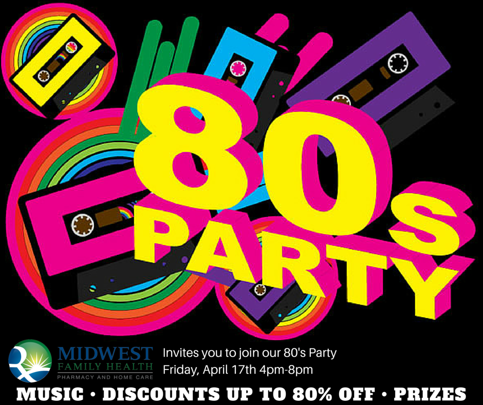80's Party Invitation - Girl's Night Out
